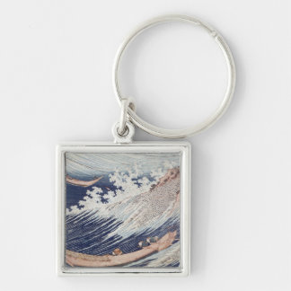 Two Small Fishing Boats on the Sea Key Chain