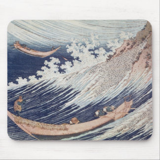 Two Small Fishing Boats on the Sea Mouse Pad