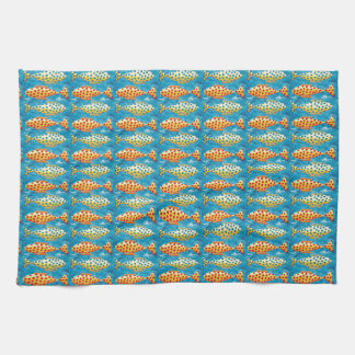 Two Spotty Fish Tea Towel