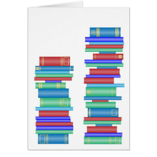 Two stacks of books card