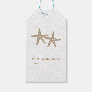 Two Starfish Beach Bridal Shower Wedding Gift Tags
