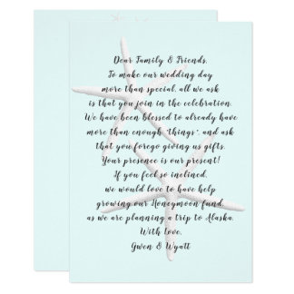 Two Starfish Couple Wishing Well Wording Cards