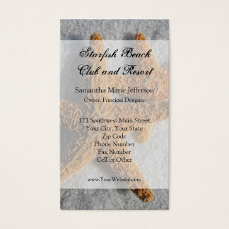 Two Starfish in the Sand, Beach Wedding Business Card