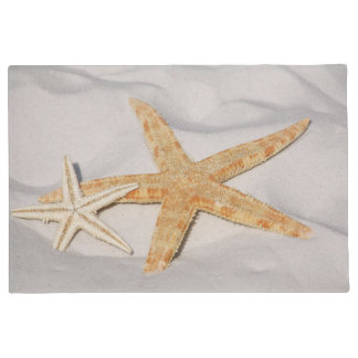 Two Starfish in the Sand Large Doormat