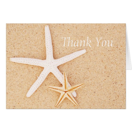 Two Starfish on a Beach Thank You Card