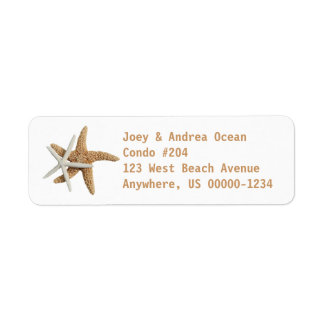 Two Starfish Sea Life Custom Return Address Label