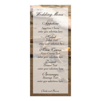Two stars coastal menu card