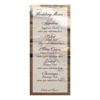 Two stars coastal menu card customized rack card