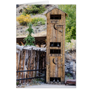 Two-Story Outhouse - Privy - Bathroom - Humor Card