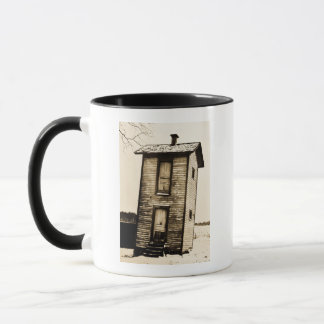 Two Story Outhouse - VIntage Mug