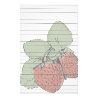 Two Strawberries Stationery Design