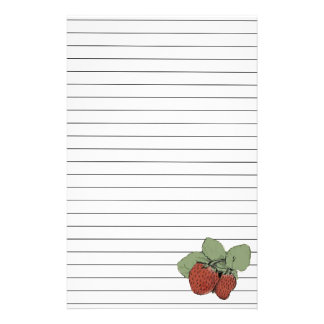 Two Strawberries Stationery Paper