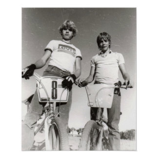 Two subject old school BMX print