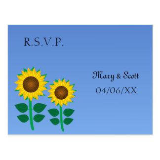 Two Sunflower Postcard