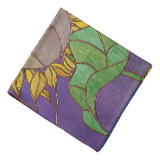 Two Sunflowers Stained Glass Look Do-rag