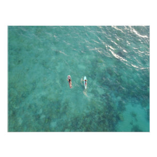 Two Surfers, Morning Paddle Photo Print