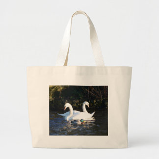 Two Swans And A Duck Jumbo Tote Bag