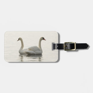 Two swans luggage tag