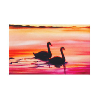 Two Swans True Love Canvas Print