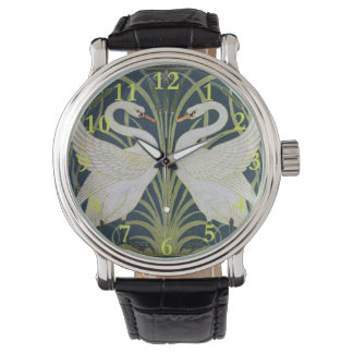 Two Swans Vintage Art Nouveau Watch