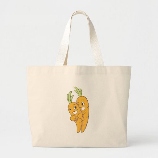 Two Sweet Carrot Lovers Canvas Bags