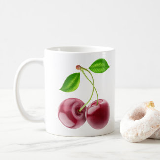 Two sweet cherries coffee mug