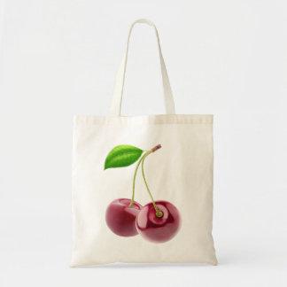 Two sweet cherries tote bag