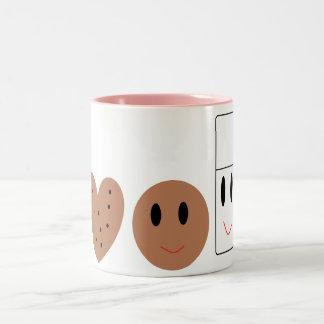 Two Sweet Cookies and Milk Coffee Mug