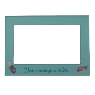 Two Swimming Otters Your Message Magnetic Frame