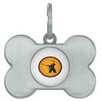 Two Swords Pet Name Tag