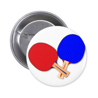 Two Table Tennis Bats 6 Cm Round Badge