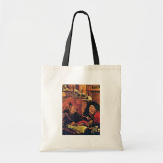 Two Tax Collectors By Reymerswaele Marinus Claesz. Canvas Bags
