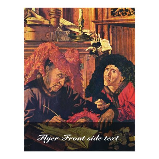 Two Tax Collectors By Reymerswaele Marinus Claesz. Personalized Flyer