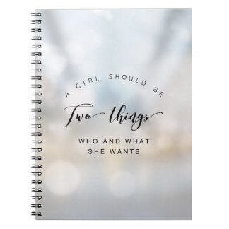 Two Things Notebook (80 Pages B&W)