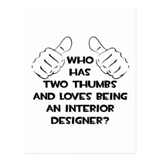 Two Thumbs .. Interior Designer Postcard