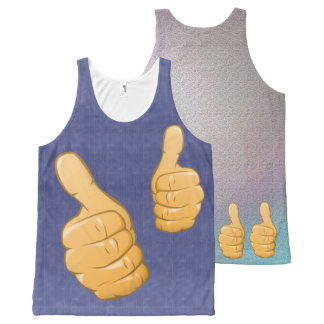TWO THUMBS UP All-Over PRINT SINGLET