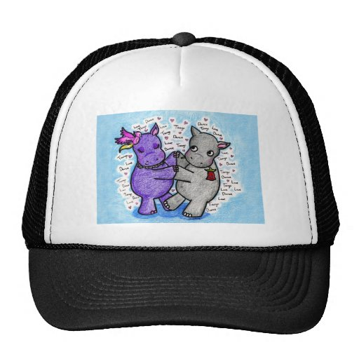 Two to Tango Hippos Trucker Hat
