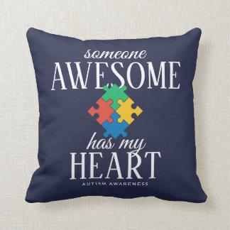 Two Tone Autism Awareness Cushion