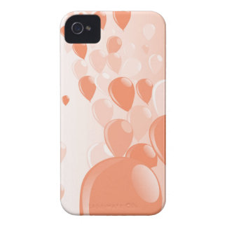 Two Tone Baloons iPhone 4 Case-Mate Case