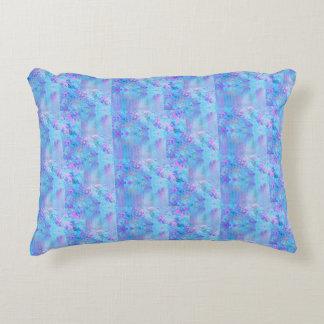 Two tone Beach theme pillow lavender/ocean blue