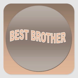 Two Tone Best Brother Square Stickers