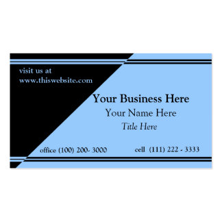 Two Tone/ Black and blue Pack Of Standard Business Cards