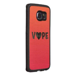 Two Tone Black Vape Heart Wood Phone Case