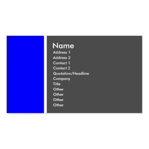 Two Tone (Blue and Gray) - Customized Business Card Template