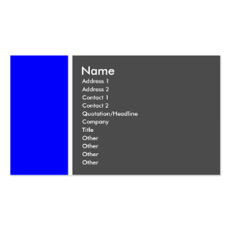 Two Tone (Blue and Grey) - Customised Pack Of Standard Business Cards