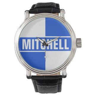 Two Tone Blue Personalized Wristwatch