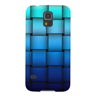 Two Tone Blue Plaided Galaxy S5 Covers