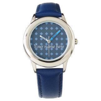 Two Tone Blue/Turquois Geometric Pattern Watch