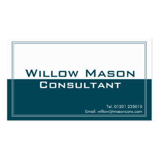 Two Tone Blue White, Professional Business Card