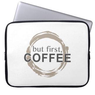 Two-Tone Coffee Mug - But First Coffee Laptop Sleeves